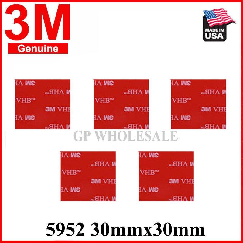 5 uds troquelado cuadrado 3M VHB 5952 cinta adhesiva de espuma acrílica de doble cara cinta de montaje resistente 30mm x 30mm 3cm x 3cm