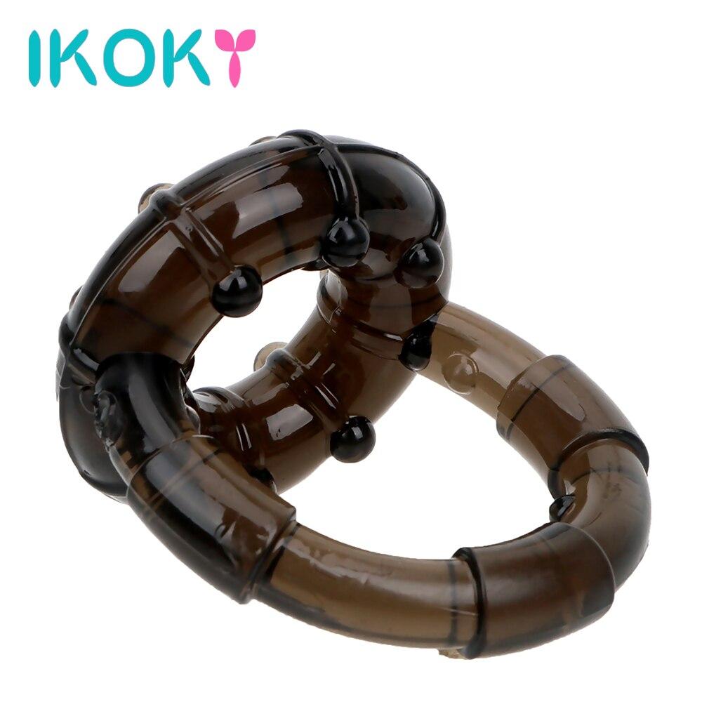IKOKY кольцо для мужского пениса верности, эротическое кольцо для полового члена, Мужская мастурбация, секс-игрушки для мужчин, задержка эякул...