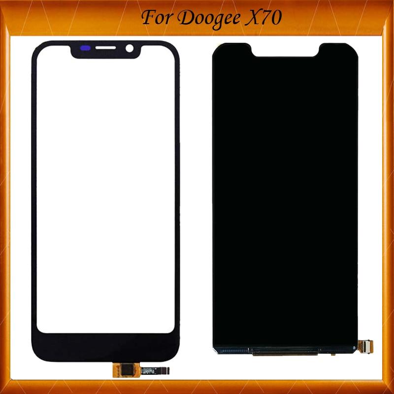 Pantalla LCD + pantalla táctil doogee-x70, digitalizador 100% probado, reemplazo del Panel de vidrio, color negro