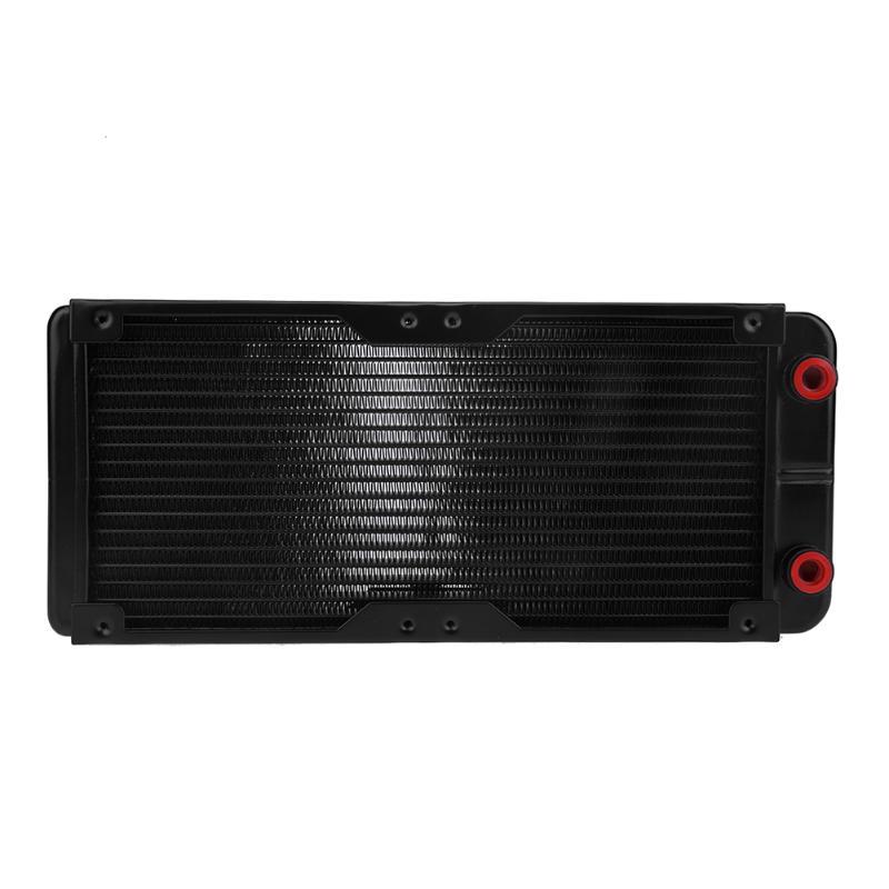 240mm 18 Tubes G4/1 Aluminum PC Motorcycle Water Cooling Radiator Heat Sink CPU Cooler Heat Radiating for Laptop