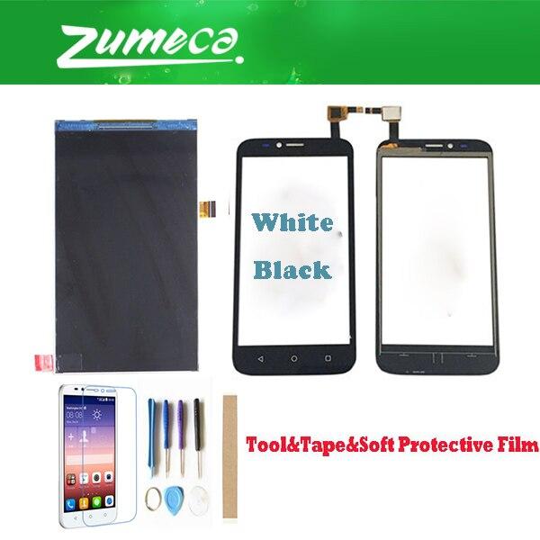 Pantalla LCD de alta calidad de 5,0 pulgadas para Huawei Ascend Y625 + reemplazo del digitalizador de pantalla táctil parte de Color blanco negro + Kits