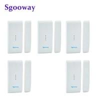Sgooway     detecteur douverture de porte fenetre sans fil  433MHZ  capteur douverture de porte fenetre intelligent pour systeme dalarme de securite domestique  wi-fi GSM GPRS