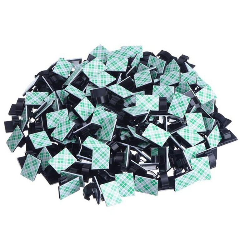 20 piezas ganchos adhesivos para cables del coche de corbata fijador soporte Cable organizador de Cable de plástico corbata Clips de Cable abrazaderas de precio de venta al por menor