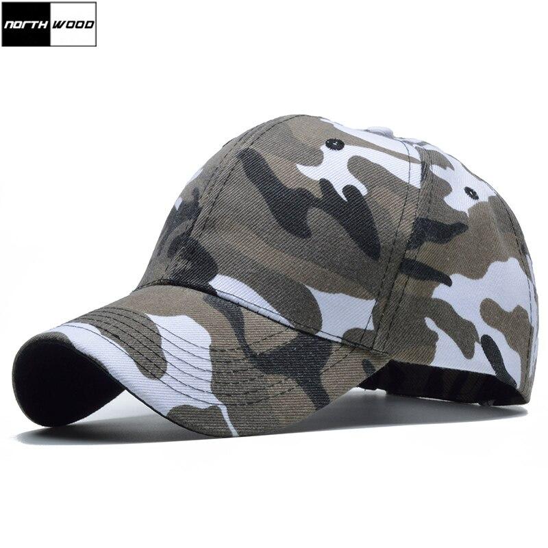 [NORTHWOOD] Snow Camo Baseball Cap Men Tactical Cap Camouflage Snapback Hat For Men High Quality Bone Masculino Dad Hat Trucker
