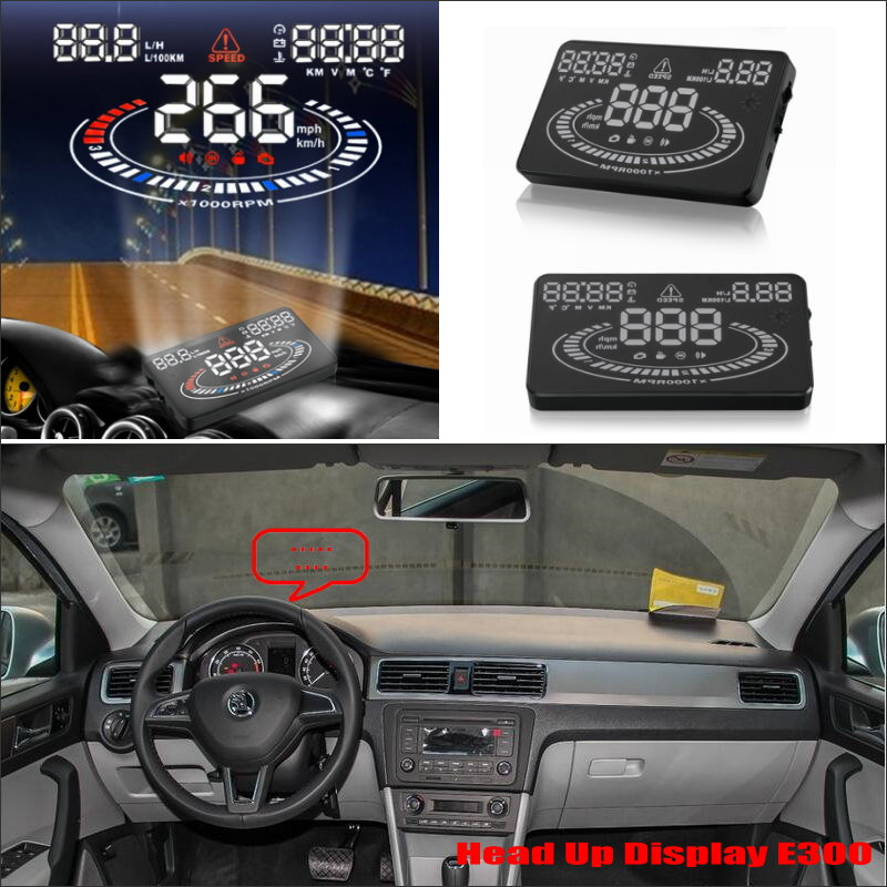 For Skoda Rapid Hatchback Liftback 2013~2015 - Car HUD Head Up Display  - Safe Driving Screen Projector Refkecting Windshield