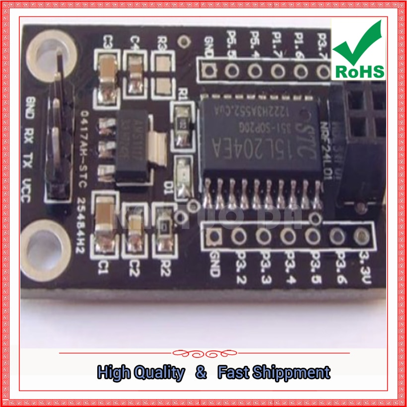 Módulo de Interfaz inalámbrica STC15L204 + NRF24L01, placa de controlador, placa de desarrollo inalámbrica (C1B5)