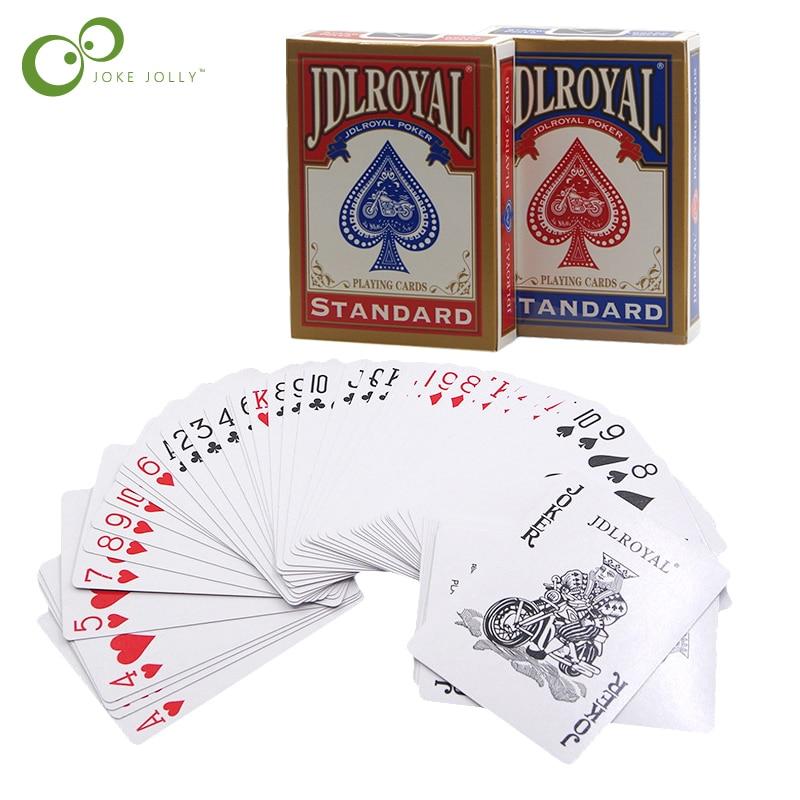 Naipes De Magia Azul Rojo Estándar Jugando Trucos De Magia Cartas De Póquer Entrenamiento Naipes De Magia Herramientas De Trucos Gyh Magic Poker Deck Magicmagic Tricks Aliexpress