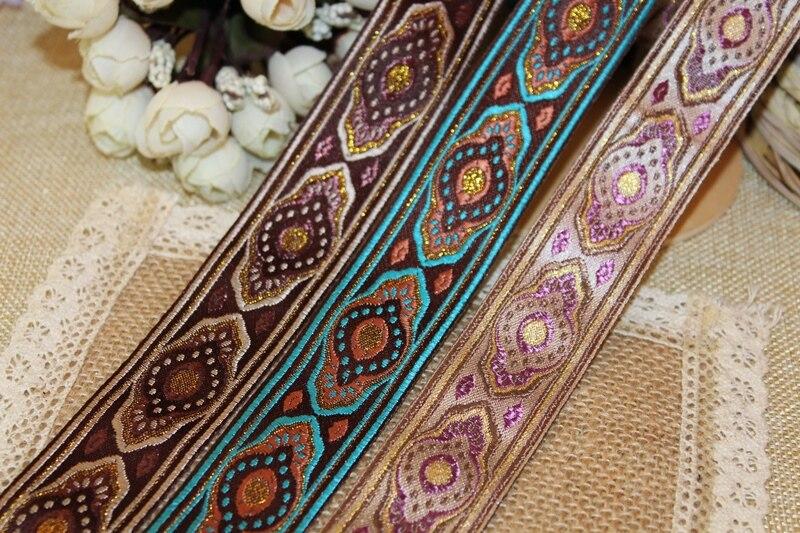 5 yardas/lote de 3cm de ancho, cinta Jacquard tejida, diseño de tótem clásico, cortina y accesorio de ropa LS-1232
