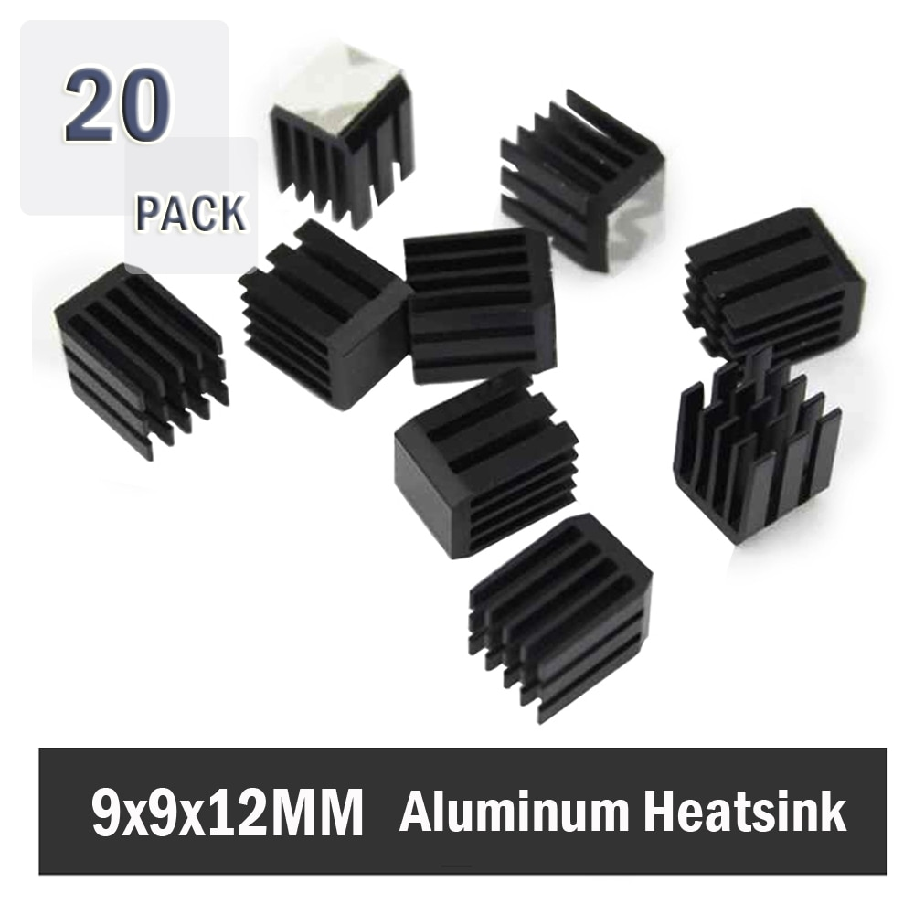 20 piezas 9x9x12 disipadores de calor de mm ordenador ventilador de enfriamiento disipador de calor de aluminio disipador de calor para Chip electrónico enfriamiento por disipación de calor 9mm