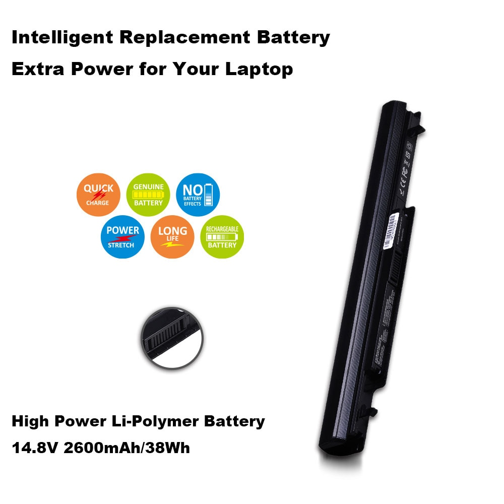 2600 mAh 4 células A41-K56 batería para ASUS K46 K46C K46CA K46CM K56 K56CA K56CM S46C S56C A32-K56 A42-K56 15 V
