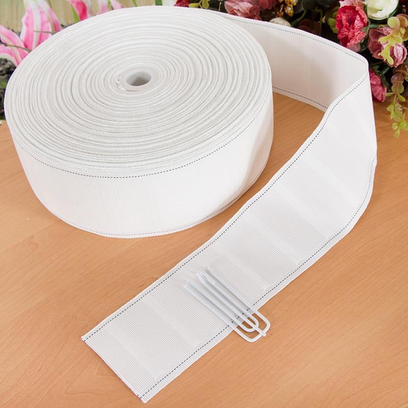 Accesorio de cortina de cinta de alta calidad de 17 M, tela de cortina espesa para ganchos para cortinas, gancho de tela blanco