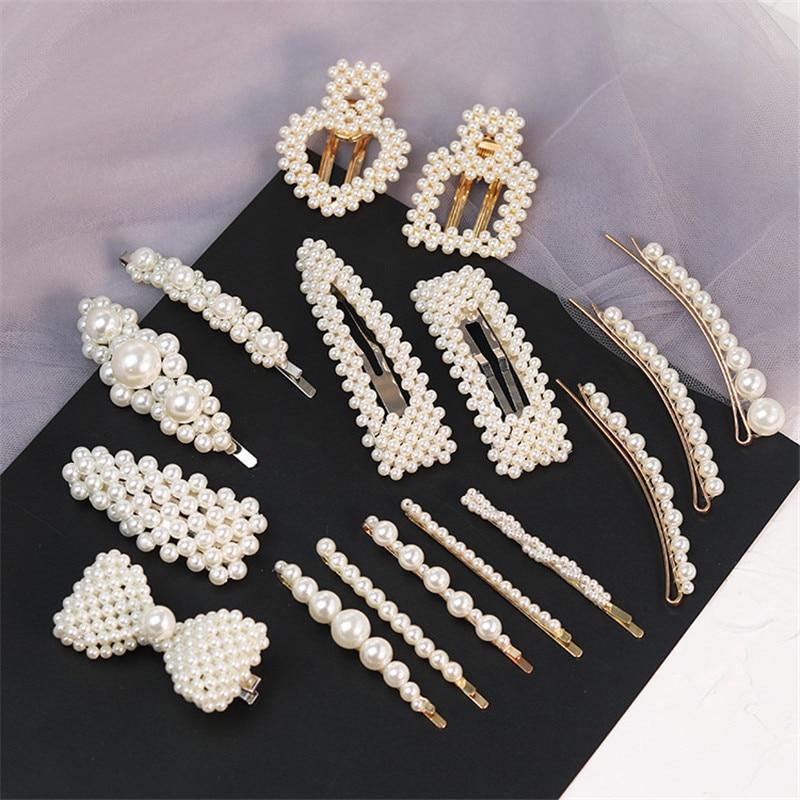New Fashion Pearl Hair Clip For Women Elegant Korean Design Pearl Metal Hair Clips Hairpin Hair Styling Accessories Hair Jewelry Aliexpress