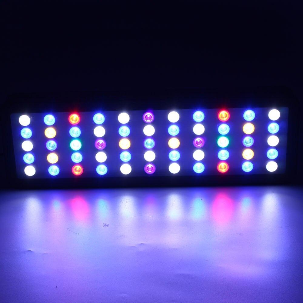Alargar WIFI 165w de luz de acuario Led temporizador regulable completa del espectro led iluminación aquariums coral arrecife led tanque de peces