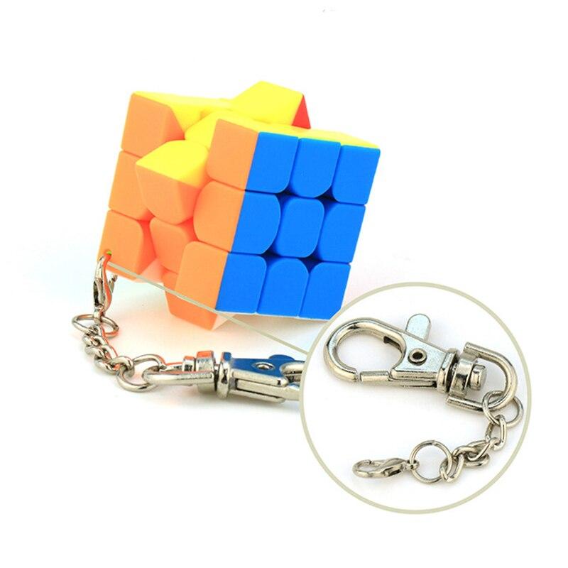 MoYu Cubing классный брелок 3,5 см Волшебные кубики 3x3 Кубики-головоломки Разноцветные Креативные кубики подвесные украшения