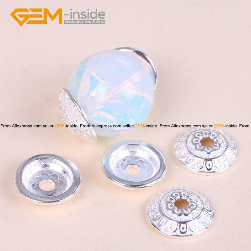 Espaciador de flor de plata tibetana de 14mm, tapas de cuentas artesanales, componente de joyería, fabricación de pulsera Diy, collar, 20 uds, envío gratis