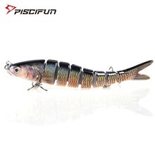 Piscifun Hard Fishing Lure 14CM 27g Multi Jointed 3D Eyes Lure 8-Segment  Hard Lure Crankbait With 2 Hook Fishing Baits