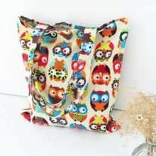 1 PC Fashion Hot Women Canvas Cute Owl Pattern Shoulder Bag Shopping Travel New Nappy Bags