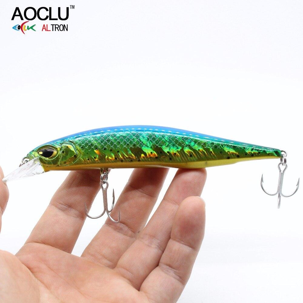 AOCLU jerkbait приманки-Воблеры 13,5 см 18,5 г жесткая Приманка Minnow Crank рыболовная приманка с магнитом Bass Fresh VMC Крючки 8 цветов приманки