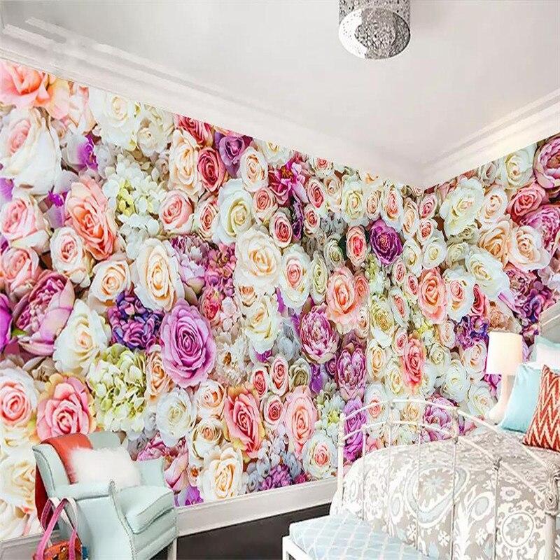 3d фрески полный дом на заказ цветок морская роза фон для украшения стены живопись обои роспись фото обои