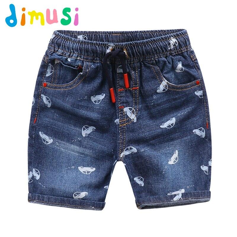 Pantalones vaqueros rasgados DIMUSI con dibujos de coches para niño, pantalones cortos de verano para niño, bragas, pantalones vaqueros cortos para niños y niñas, pantalones cortos para niños BC069