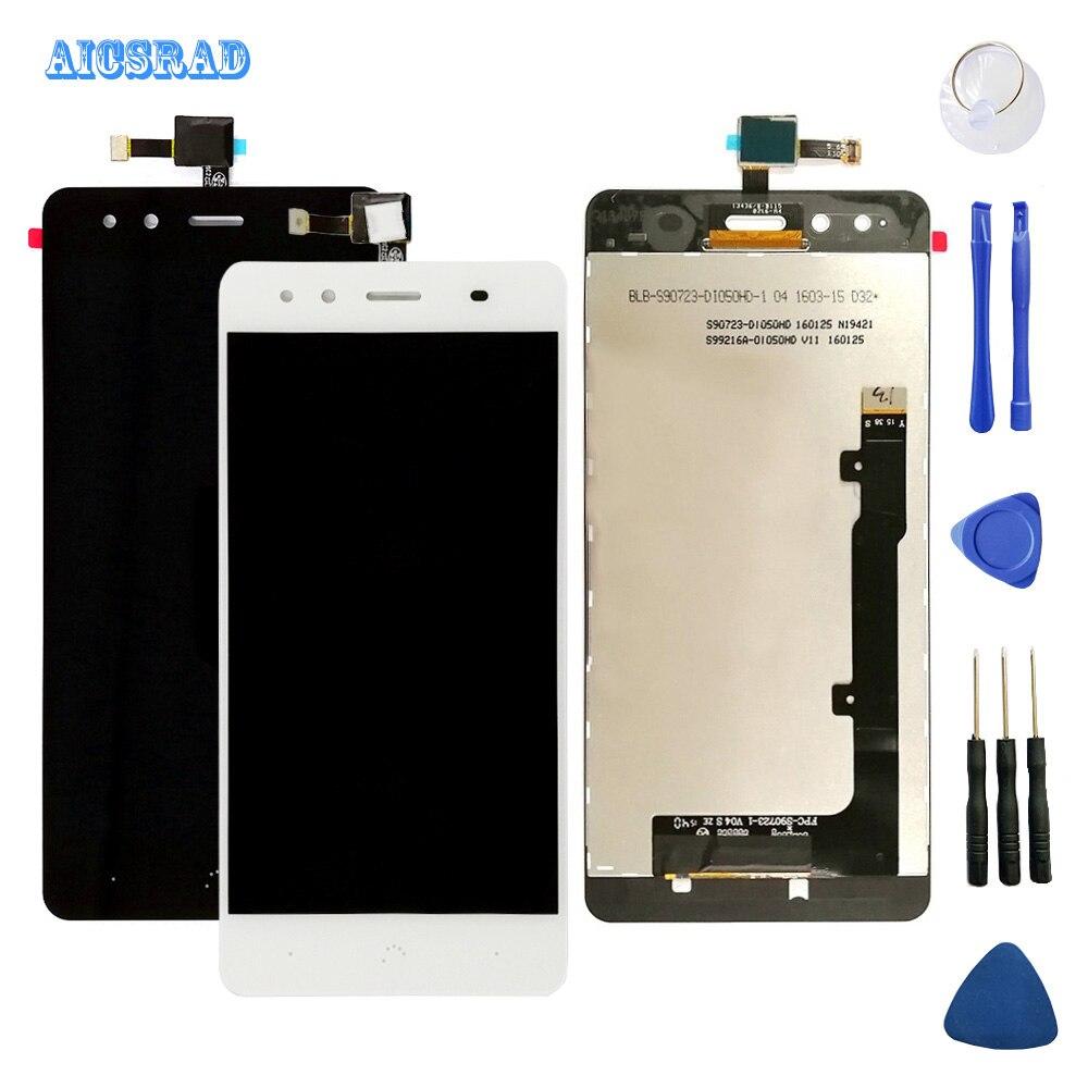 AICSRAD 5.0 pe łna wyświetlacz LCD + ekran dotykowy Digitizer zgromadzenie dla BQ Aquaris X5 X 5 ekran lcd; nowy; 100%