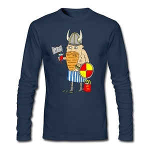 Fast Food Viking T-shirt man  Low-cost  Shirt 90s Maker Round Collar t shirt Gentleman Clothing