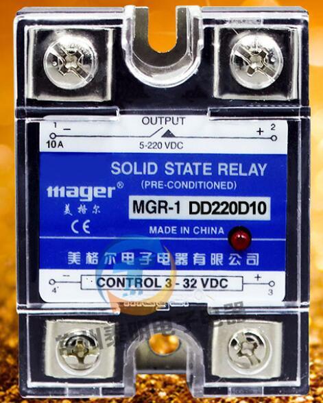 Mager nuevo original de una sola fase SSR monofásico relé de estado sólido 10 a 24 V control DE CC DC MGR-1 DD220D10