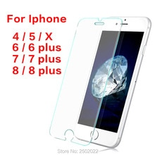 Protective Glass For Iphone 8 Plus Glass Protection For Iphone X Film i phone 7 6 Plus 5 4 8plus Scr