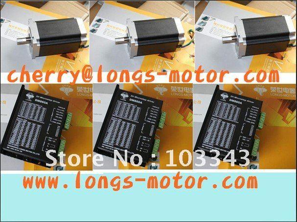 3 Eixo Nema 34 Stepper Motor 1232OZ-IN & DM860A motorista CNC PLASMA & Mill