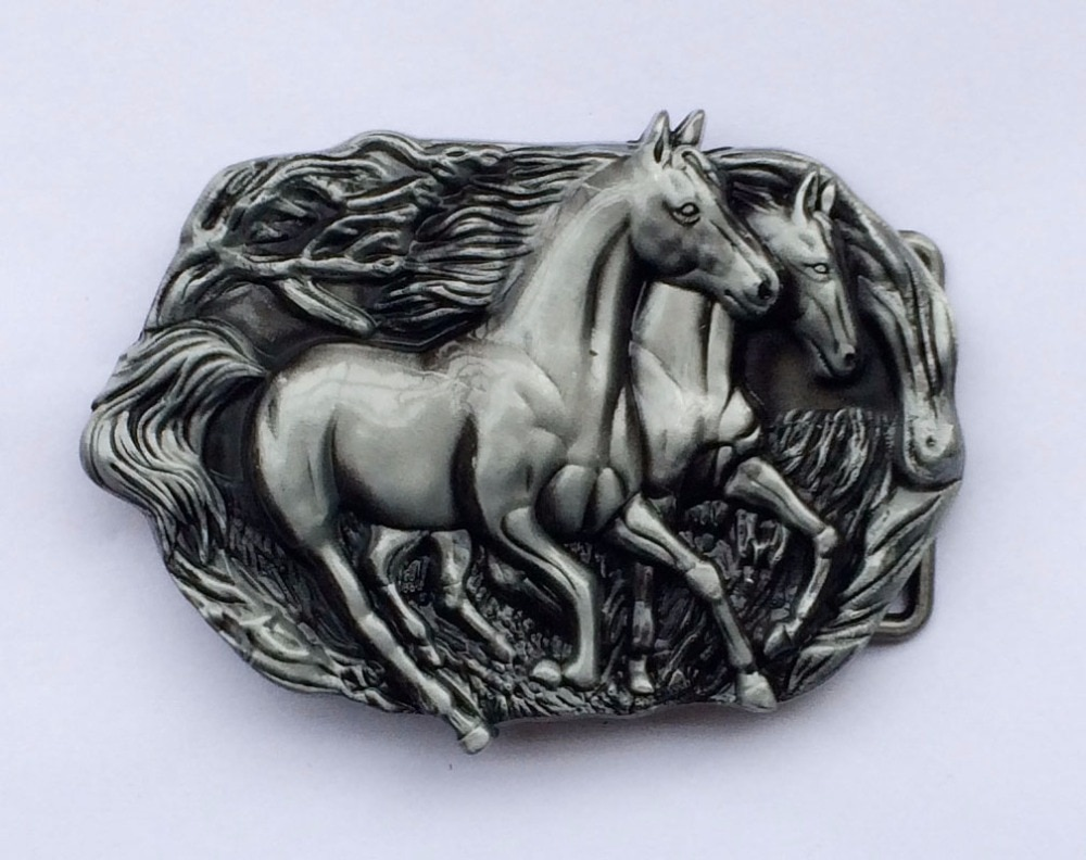 Dois corrida cavalo cowboy cinto fivela