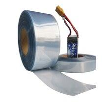 Tube thermorétractable Transparent en PVC Transparent de 110mm pour boîtier de gaine rétractable pour batterie RC LiPO NiMH NiCd