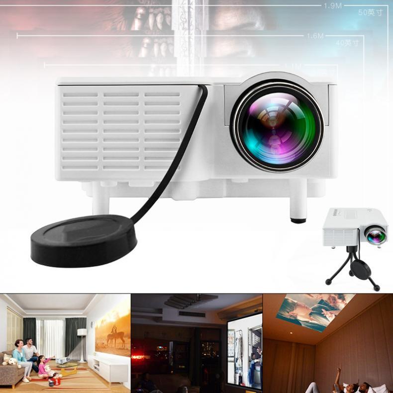 UC28 Universal 400 Lumen HD 400 Lumen Multimedia LED Hause Projektor Unterstützung 60 Zoll Großen Bildschirm Projektion