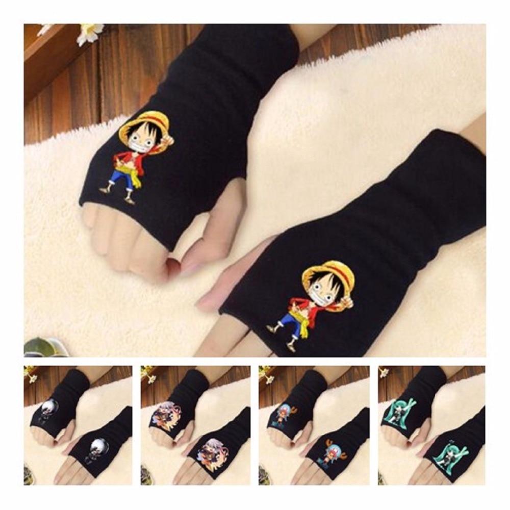 Аниме одна штука Чоппер перчатки Луффи хлопчатобумажные перчатки Япония Наруто Вегета половина пальцев перчатки дети взрослый фигурка игрушка подарок