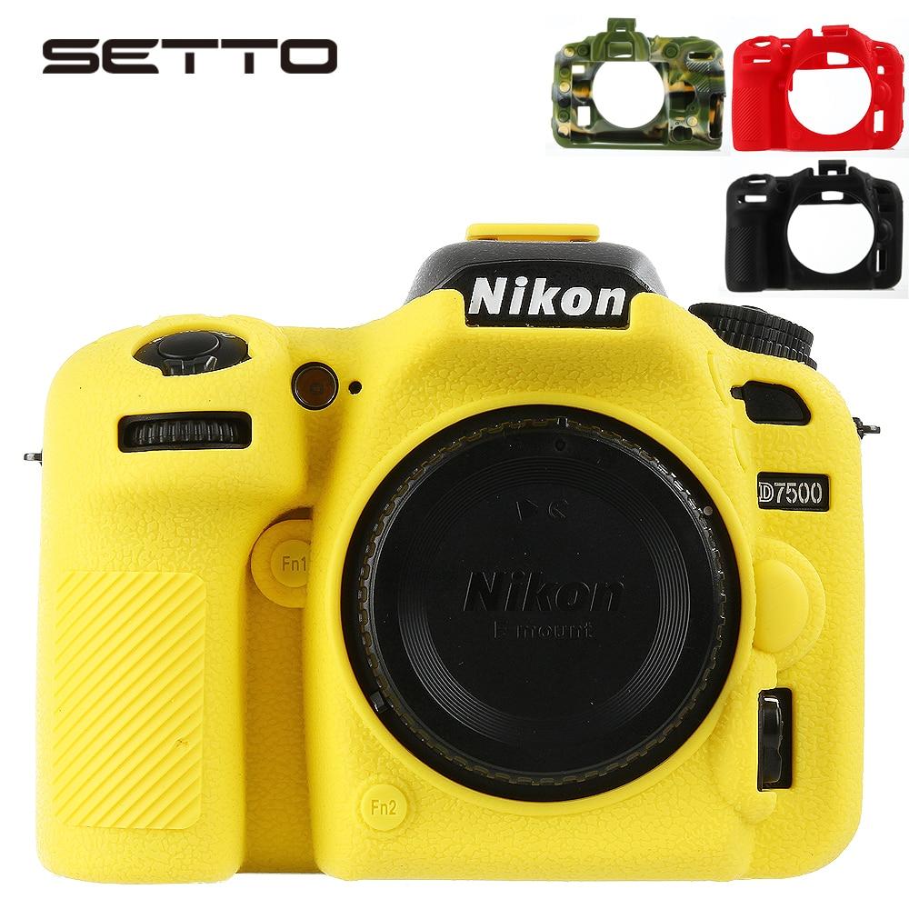 SETTO-جراب واقٍ للكاميرا من المطاط والسيليكون الناعم ، جراب واقٍ للكاميرا D7500 DSLR ، جراب واقٍ للكاميرا