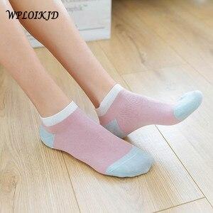[WPLOIKJD]Fashion New Product Asakuchi Candy Color Absorb Sweat Breathable Color Diversity Women Socks Cotton Meias Sokken