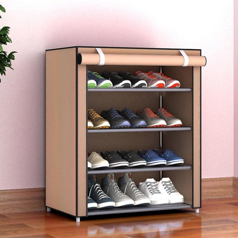 Estantería para zapatos de tela no tejida de gran tamaño a prueba de polvo organizador de zapatos para dormitorio o dormitorio