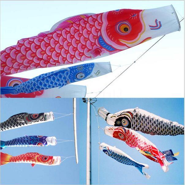 40 cm Estilo Japonês Colorido Carpa Koi Nobori Vento Meia Peixe Anime Bandeiras Pipa Peixe Koinobori Bandeira Pendurada Decoração