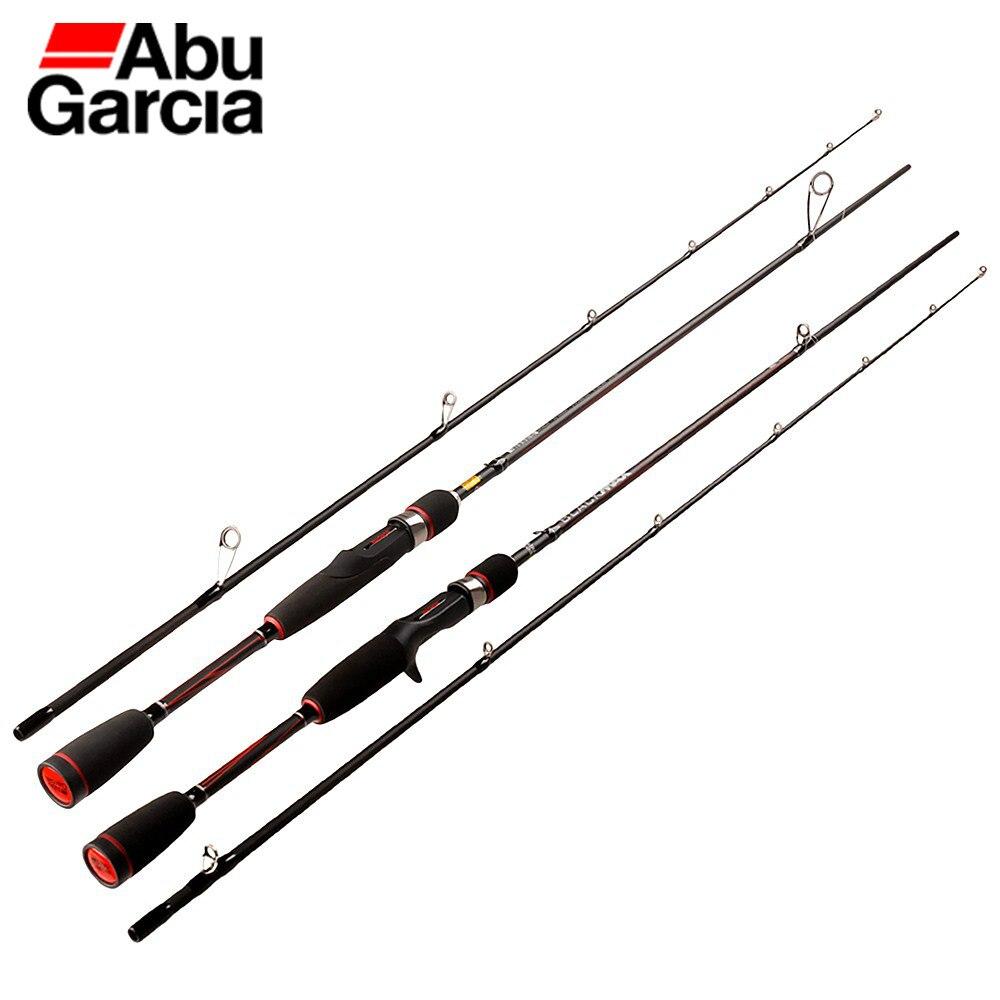 Abu Garcia BMAX pesca Rod 1,98 m 2,13 m 2,44 m de Spinning o de varilla de fibra de carbono caña de pescar la trucha equipo de pesca de carpa