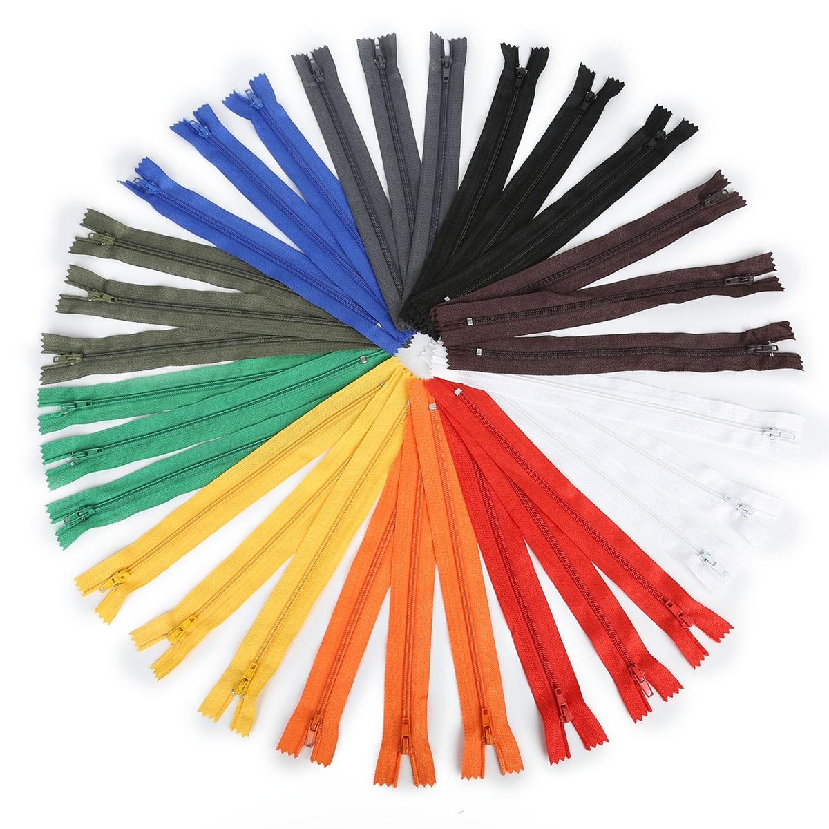 Оптом и в розницу, 10 шт./лот, высокое качество, длина 20 см, цветные нейлоновые катушки, молнии, швейные изделия ручной работы, аксессуары для рукоделия