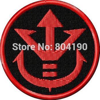 Parche con emblema bordado de 2,5 pulgadas DragonBall Z Royal Saiyan Crest TV Moive, parches punk para coser en hierro