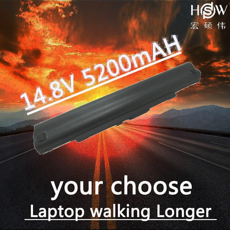 HSW 8cells 5200mah new rechargeable laptop battery for A42-UL30 A42-UL50 A42-UL80 FOR Asus UL30 UL30A UL50 UL80  bateria akku