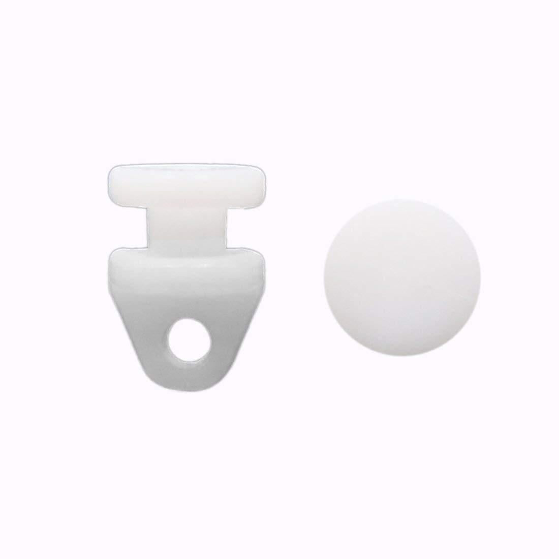 Uxcell, 30 Uds., blanco, 3mm, diámetro del agujero, deslizador de ventana, pista, ruedas, rodillo, portador de cortina