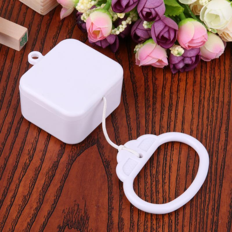 String Music Box Baby Kids Bed Bell Rattle Toy Plastic Clockwork Cord Pull Ring White ABS Box A Musi