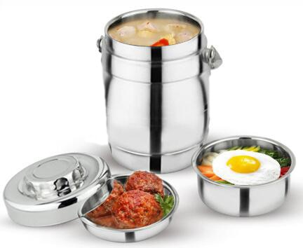 Gran oferta de 1,6 litros de doble pared de acero inoxidable a prueba de derrames al vacío fiambrera térmica aislante rce caja contenedor de alimentos olla portátil