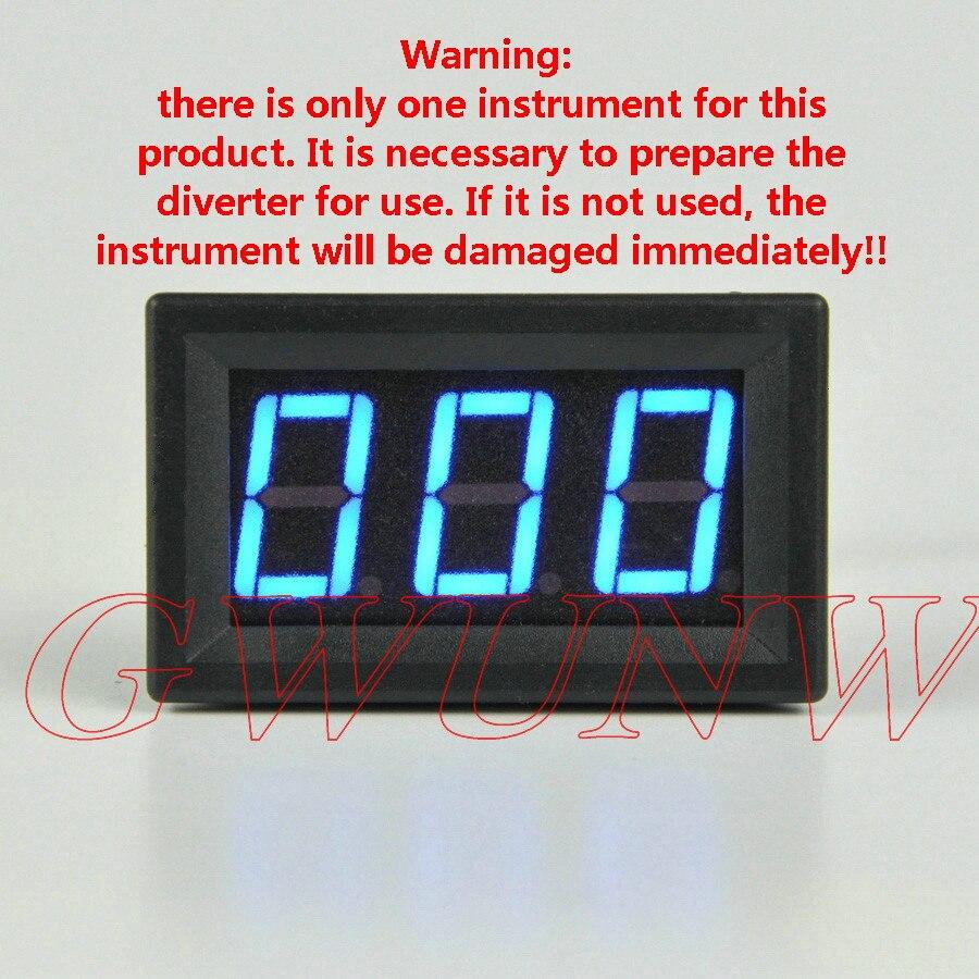 Цифровой амперметр GWUNW BY356A 20A-500A, измеритель тока на панели, 0,56 дюймов, 3-битный светодиод [**** должен иметь шунт для использования]