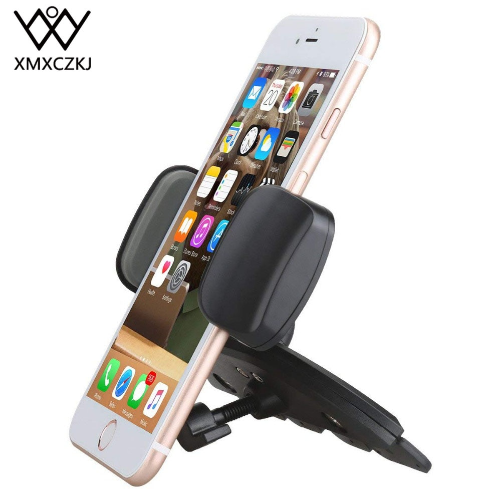 XMXCZKJ Car Mobile Phone Holder Stand Accessories Support Auto Smartphone Holder For Cd Slot Mount C