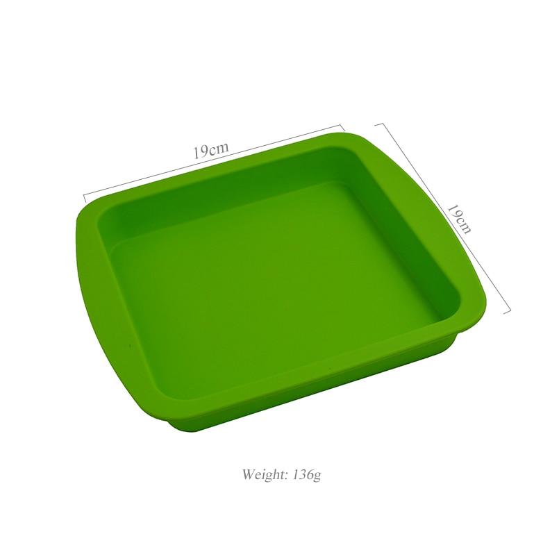 1pc bho quadrado silicone borracha profunda prato dab cera jar e não vara cera silicone slick butano recipiente de óleo