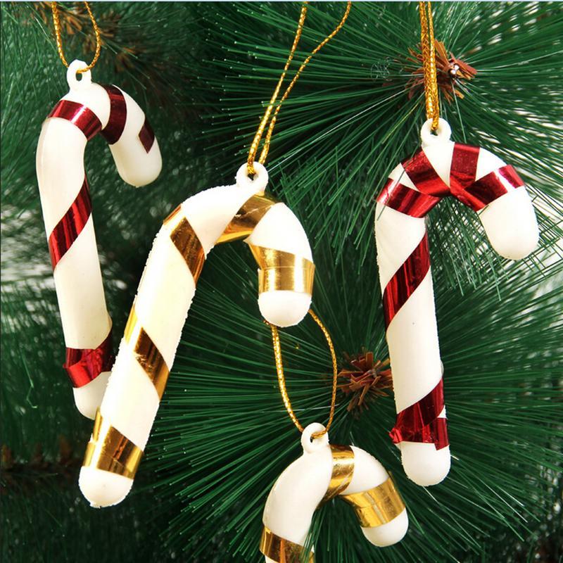 1/6/12/18Pcs Weihnachten Canes Weihnachten Baum Dekorationen für Home Party Neue Jahr Weihnachten Süßigkeiten cane Weihnachten Baum Hängen Ornamente