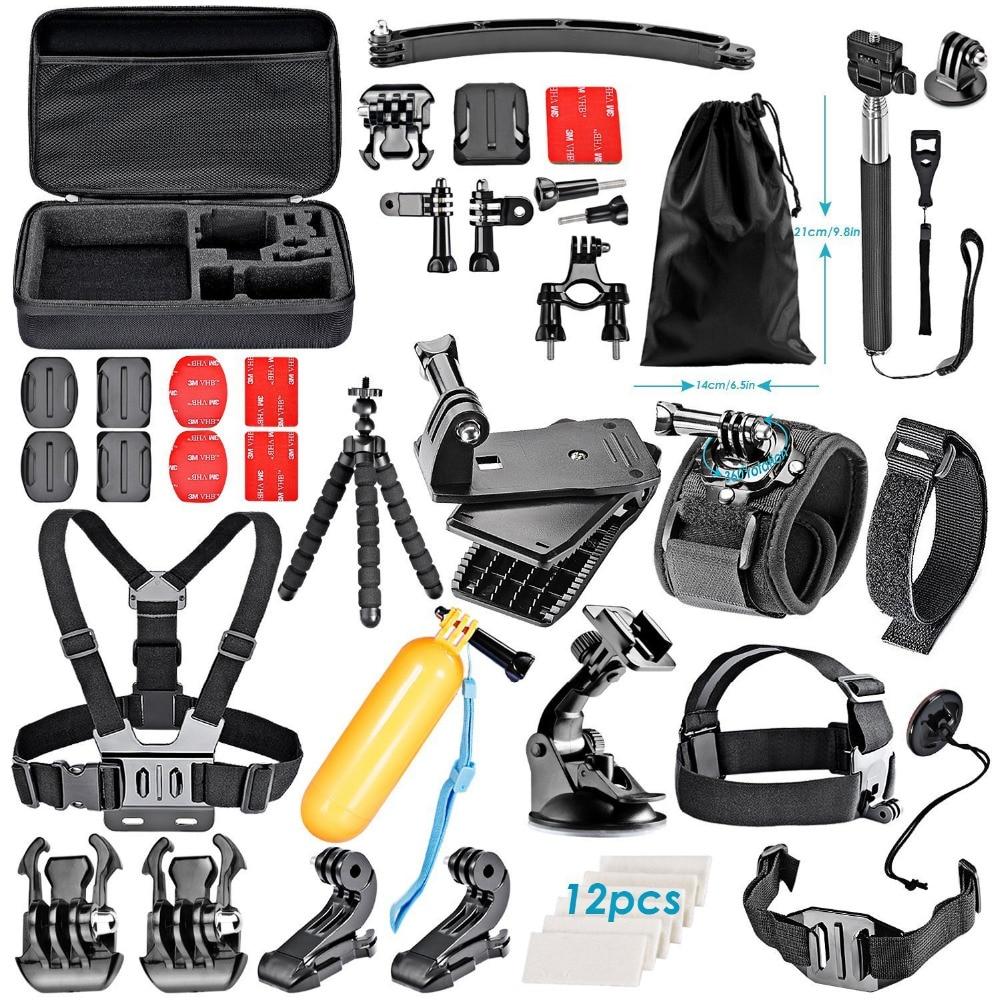 Набор аксессуаров для экшн-камеры neewer, Спортивная камера для всех марок Sjcam DBPOWER, AKASO, APEMAN, WiMiUS, QUMOX, Lightdow, Campark