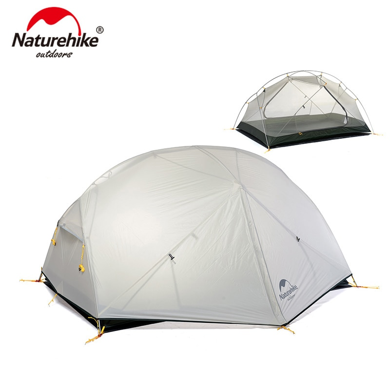 aliexpress.com - Naturehike Mongar 2 Persons Camping Tent 20D Nylon Fabric Double Layer Waterproof Outdoor Camping Tent NH17T007-M